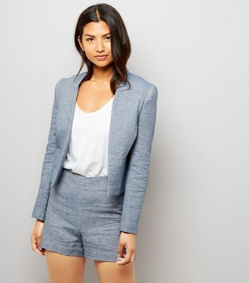 Blue Boucle Suit Jacket