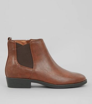 Tan Elasticated Side Chelsea Boots