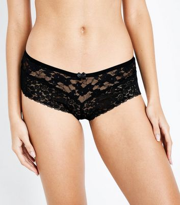 Black Lace Brazilian Briefs