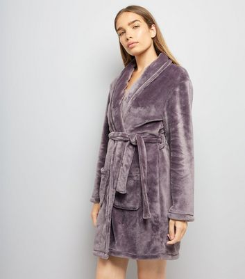 Purple Fluffy Robe