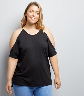 Curve Cold Shoulder T-Shirt