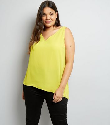 Curves Yellow Asymmetric Cami Top