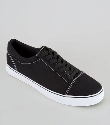 Black Contrast Stitch Trainers