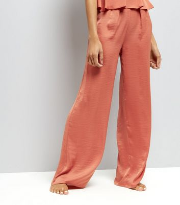 Tall Pink Wide Leg Pyjama Bottoms