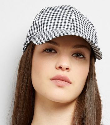 Black Gingham Cap