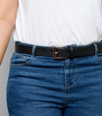 Curves Black Jeans Belt