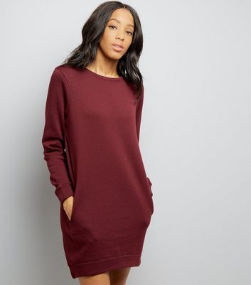 Burgundy Sweatshirt Dress