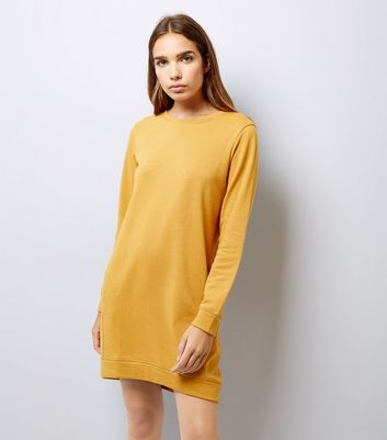 Mustard Yellow Sweater Dress