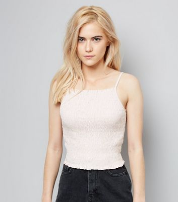 SHIRRED CROP CAMI