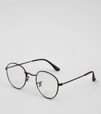 Black Thin Frame Clear Glasses