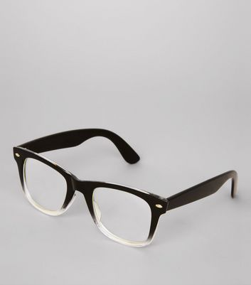 Black Ombre Clear Glasses