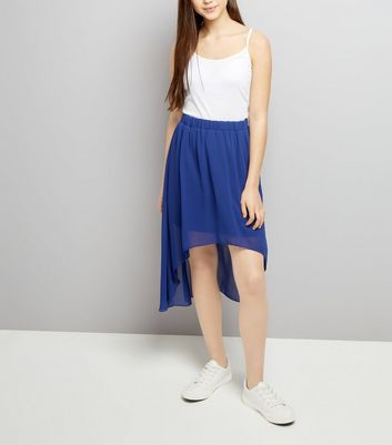 Teens Blue Dip Hem Skirt