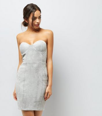 AX Paris Grey Bandeau Dress