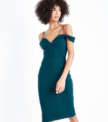 AX Paris Teal Strappy Midi Dress