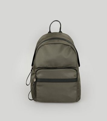 Khaki Contrast Backpack