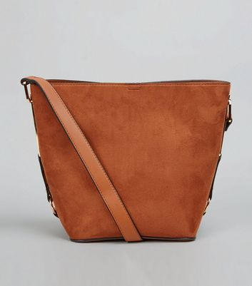 Tan Side Detail Bucket Bag