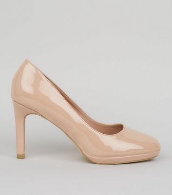 Nude Comfort Patent Platform Court Shoes