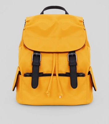 Yellow Double Buckle Mini Backpack