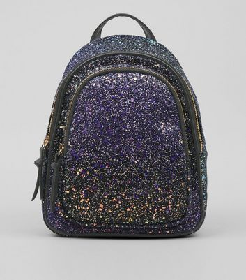 Purple Glitter Mini Backpack