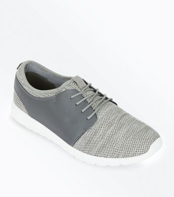 Grey Knitted Runners