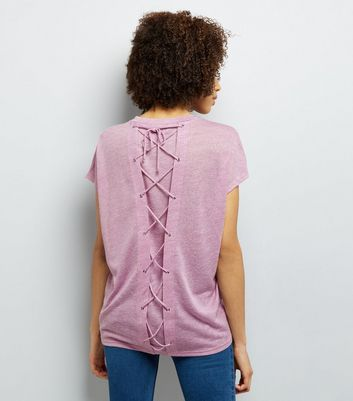 Lilac Lattice Back T-Shirt