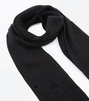 Black Ripped Scarf
