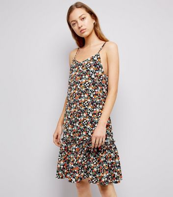 Cameo Rose Orange Floral Print Slip Dress