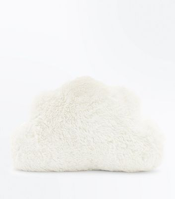 White Fluffy Cloud Cushion