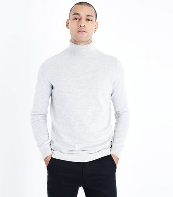 Silver Roll Neck Jumper