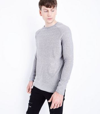 Grey Stitch Trim Jumper