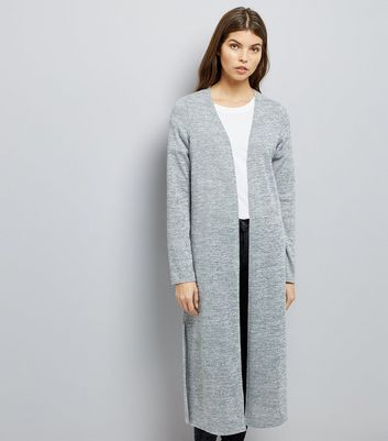 Pale Grey Maxi Cardigan