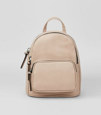 Shell Pink Chunky Zip Mini Backpack