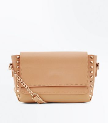 Camel Stud Side Cross Body Bag