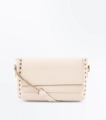 Pink Studded Edge Cross Body Bag