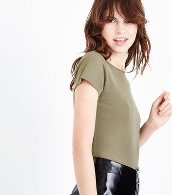 Khaki Fitted T-Shirt