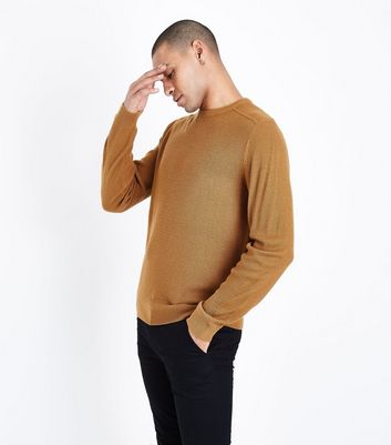 Mustard Textured Knit Jumper