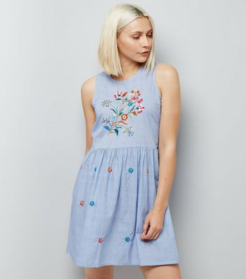 Anita and Green Blue Floral Embroidered Dress