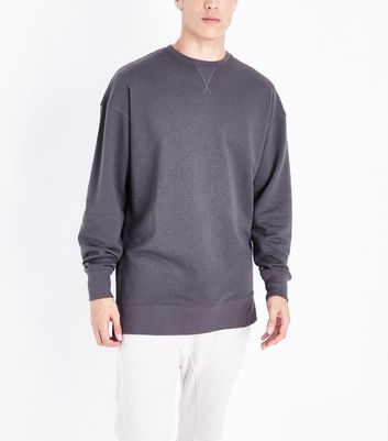 Dark Green Dropped Shoulder Crew Neck Jumper