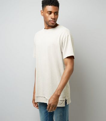 Stone Double Layered Acid Wash T-Shirt
