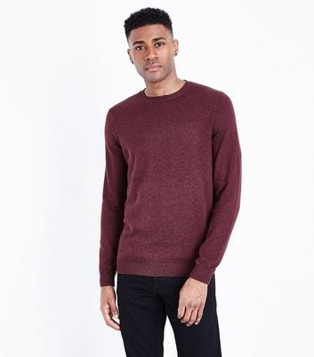 Burgundy Cotton Crew Neck Jumper