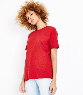 Red Organic Cotton Short Sleeve T-Shirt