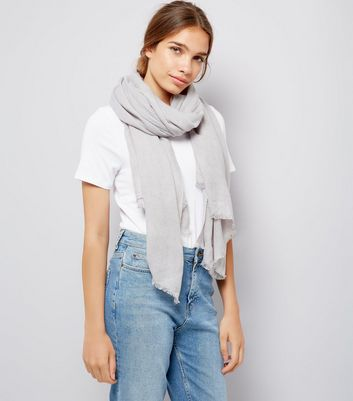 Grey Plain Scarf