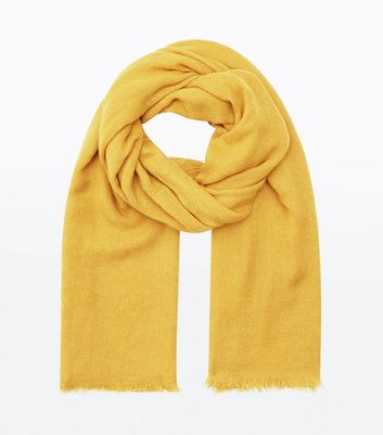 Yellow Plain Scarf