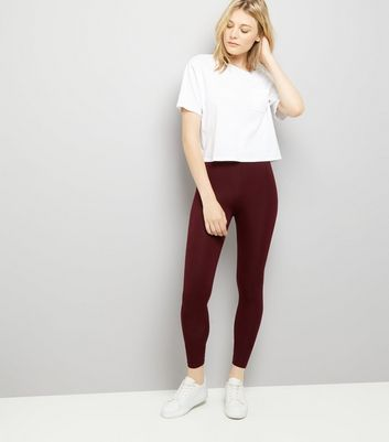 2 Pack Black And Burgundy Leggings