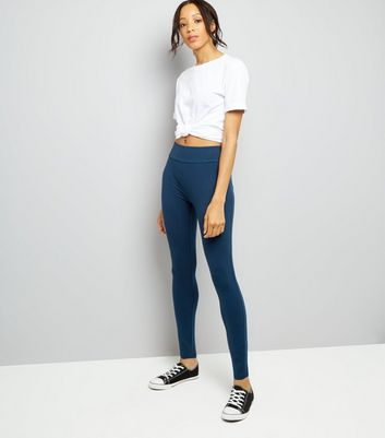 Blue High Waisted Leggings