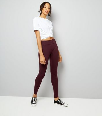 Burgundy High Waisted Leggings