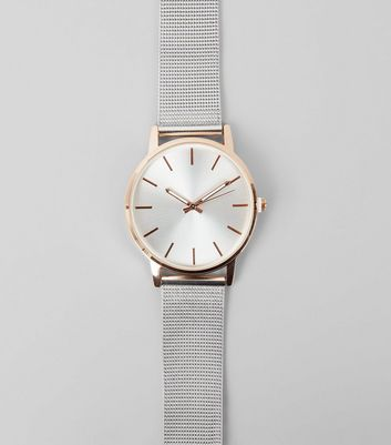 Metallic Mesh Strap Watch