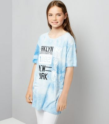 Teens Blue Tie Dye Brooklyn T-Shirt
