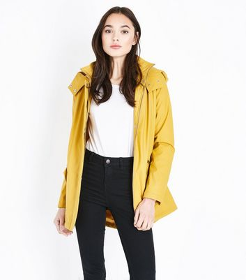 Mustard Yellow Quilt Lined Anorak