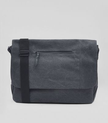 Marineblauer Messenger Bag aus Canvas